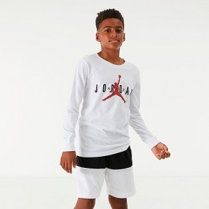 Boys' Air Jordan Jumpman Long-Sleeve T-Shirt White Sales