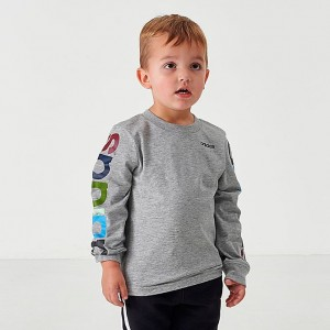 Boys' Toddler and Little Kids' Multi Sleeve Linear Long-Sleeve T-Shirt Grey/Multi Sales
