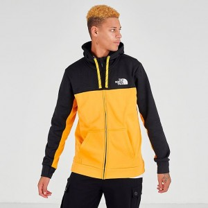 Men's The North Face Surgent Bloc 2.0 Full-Zip Hoodie TNF Black/Yellow Sales
