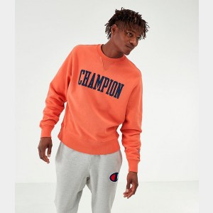 Men's Champion Reverse Weave Vintage Crewneck Sweatshirt Burnt Orange Sales