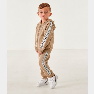 Black Friday 2021 Kids' Infant and Toddler adidas Originals Tape Poly Full-Zip Hoodie and Jogger Set Trace Cargo Sales