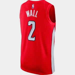 Men's Nike Washington Wizards NBA John Wall Earned Edition Swingman Jersey University Red Sales