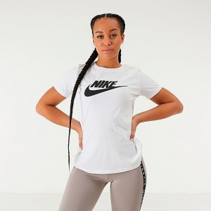Women's Nike Sportswear Essential T-Shirt White/Black Sales