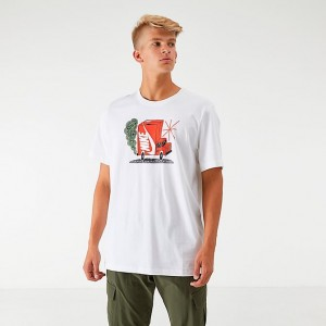 Men's Nike Sportswear Box Truck T-Shirt White Sales