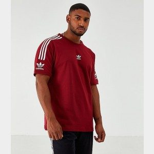 Men's adidas Originals Lock Up T-Shirt Scarlet Sales