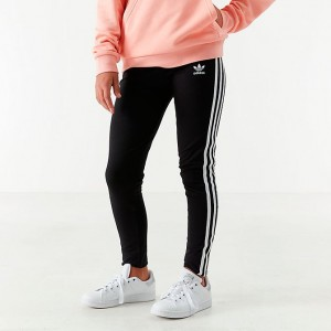 Girls' adidas Originals Printed Leggings Black/White Sales