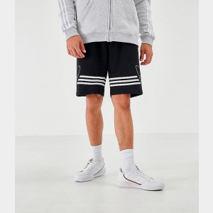 Men's adidas Originals Outline Shorts Black Sales