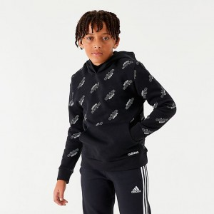Boys' adidas Originals Core Allover Print Hoodie Black/White Sales