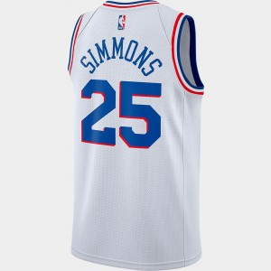 Men's Nike Philadelphia 76ers NBA Ben Simmons Earned Edition Swingman Jersey White Sales