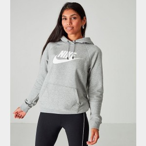 Women's Nike Sportswear Essential Hoodie Grey Heather Sales