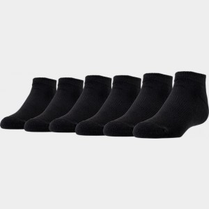 Kids' Preschool Finish Line 6-Pack Low Cut Socks Black Sales