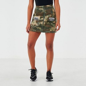 Women's adidas Originals Vocal Cargo Skirt Green/Camo Sales