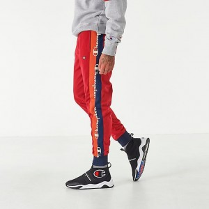 Men's Champion Tricot Taping Track Pants Red Sales