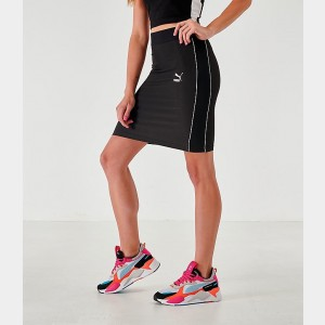 Women's Puma Rib Skirt Black Sales