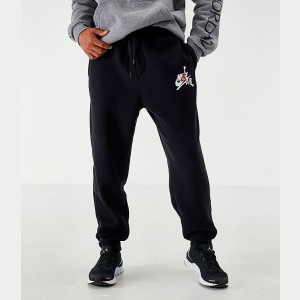 Men's Jordan Mashup Jumpman Classics Fleece Jogger Pants Black Sales