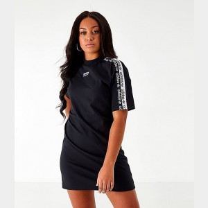 Women's adidas Originals Tape Tee Dress Black/White Sales