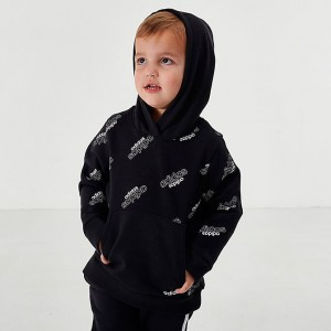 Boys' Toddler and Little Kids' adidas Core Allover Print Hoodie Black Sales