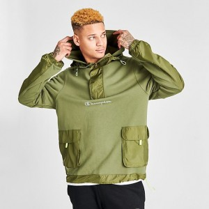 Men's Champion Sideline Jacket Cargo Olive Sales