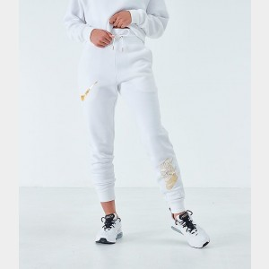 Women's Nike Sportswear Shine Jogger Pants White/Metallic Sales