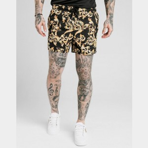 Men's SikSilk Venetian Swim Shorts Black Sales