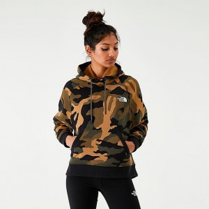 Women's The North Face Graphic Pullover Hoodie Camo Sales