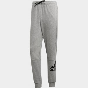 Men's adidas Must Haves French Terry Badge of Sport Sweatpants Medium Grey Heather/White Sales