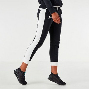 Women's Under Armour Rival Fleece Graphic Pants Black Sales