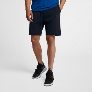 Men's Nike Sportswear Tech Fleece Fleece Shorts Black/Black/Black Sales