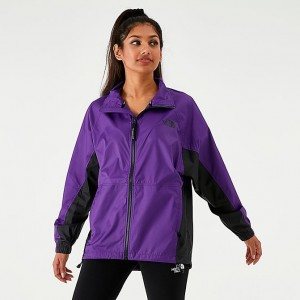 Women's The North Face Wind Jacket Hero Purple Sales