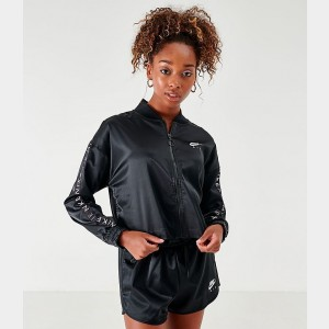 Women's Nike Air Satin Track Jacket Black/White Sales