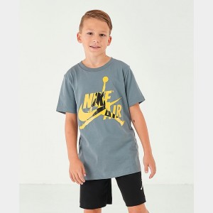 Boys' Jordan Mashup Jumpman Classics Graphic T-Shirt Cool Grey Sales