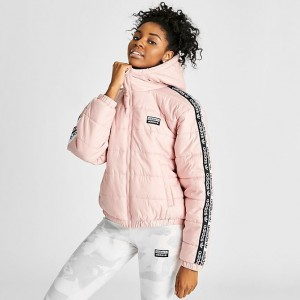 Women's adidas Originals Vocal Taped Padded Jacket Pink Spirit Sales