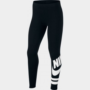 Girls' Nike Sportswear Fave Leggings Black/White Sales
