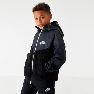 Boys' Nike Sportswear Windrunner Winter Jacket Black Sales