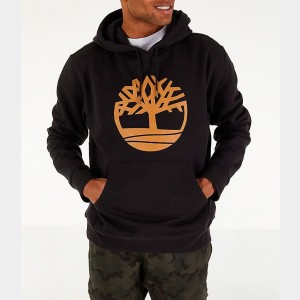 Men's Timberland Big Tree Logo Hoodie Black Sales