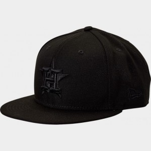 New Era Houston Astros MLB 9FIFTY Snapback Hat Black Sales