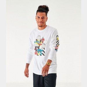 Men's Nike Sportswear High Summer Long-Sleeve T-Shirt White Sales