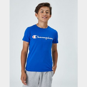 Kids' Champion Heritage T-Shirt Blue Sales