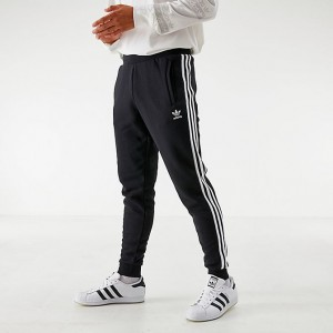Men's adidas Originals 3-Stripe Pants Black Sales