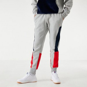 Men's Champion Colorblock Jogger Pants Oxford Grey Sales
