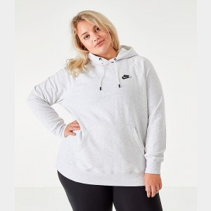 Women's Nike Sportswear Essential Hoodie (Plus Size) Birch Heather Sales