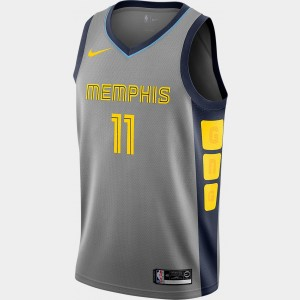 Men's Nike Memphis Grizzlies NBA Mike Conley City Edition Connected Jersey Steel Grey Sales