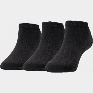 Kids' Finish Line 3-Pack No Show Socks Black Sales