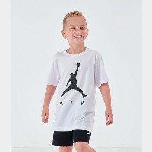 Boys' Air Jordan Jumpman T-Shirt White/Black Sales