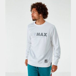 Men's Nike Sportswear Air Max Crew Sweatshirt White Sales