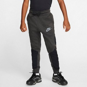 Boys' Nike Nike Sportswear Winterized Tech Fleece Jogger Pants Black/Heather/Black/White Sales