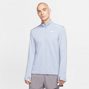 Men's Nike Element 3.0 Half-Zip Training Top Pale Blue/White Sales