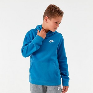 Boys' Nike Sportswear Small Logo Club Hoodie Mountain Blue Sales