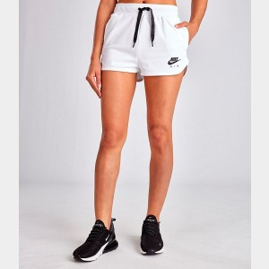 Women's Nike Air Shorts White Sales