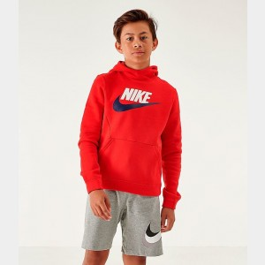 Kids' Nike Sportswear Club Fleece Hoodie University Red Sales